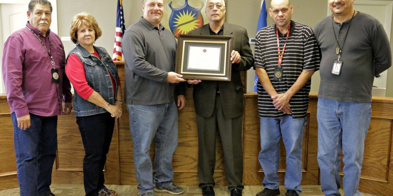Delaware Nation Receives Certificate of Appreciation