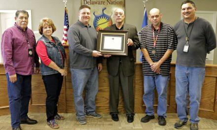 Delaware Nation Receives Certificate of Appreciation