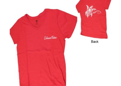 Adult Women's V-Neck Shirt Two-Sided