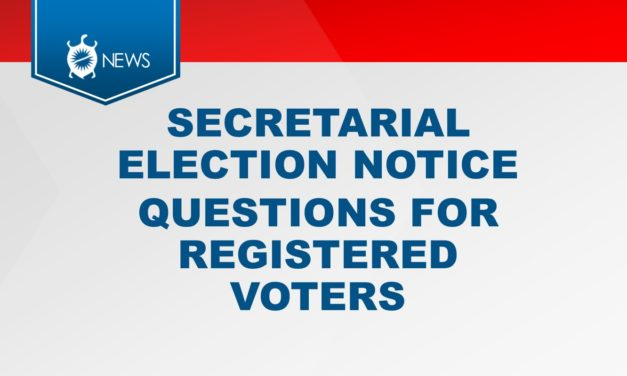 SECRETARIAL ELECTION NOTICE